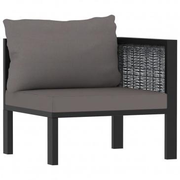 6-cz. zestaw wypoczynkowy do ogrodu, poduszki, rattan PE
