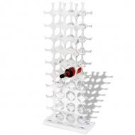 Aluminiowy stojak na 40 butelek wina, kolor srebrny