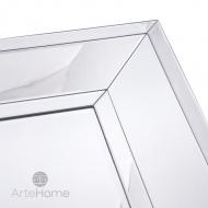Ava 70x140 - prostokątne lustro dekoracyjne w fazowanej ramie lustrzanej