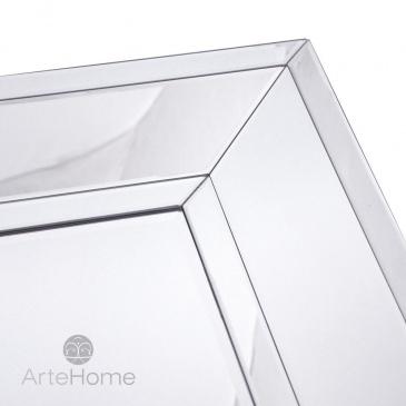 Ava 70x140 Prostokątne Lustro Dekoracyjne W Fazowanej Ramie Lustrzanej