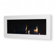 Biokominek dekoracyjny prostokątny 90x40 EcoFire Flat biały połysk