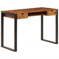 Biurko, 110x55x78 cm, lite drewno sheesham i stal