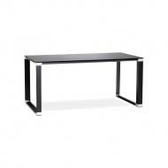 Biurko Kokoon Design Warner 140x74 cm czarne blat szklany
