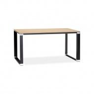 Biurko Kokoon Design Warner 140x74 cm jasnobrązowe nogi czarne