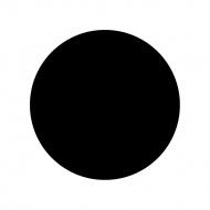 Blat stołowy okrągły Kokoon Design 60 cm czarny