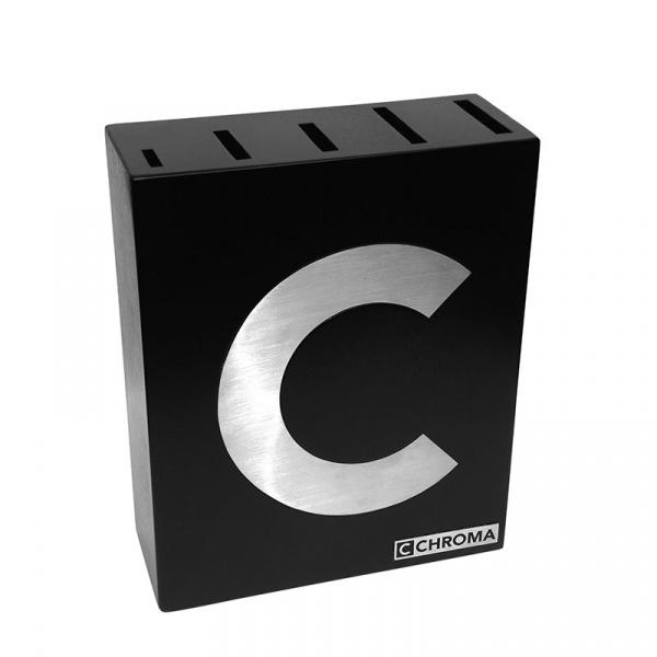 Blok na noże Chroma Type 301 C-Block czarny P14C
