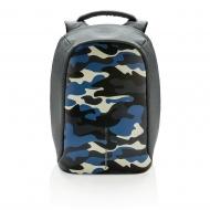 Bobby Compact plecak antykradzieżowy kamuflaż niebieski