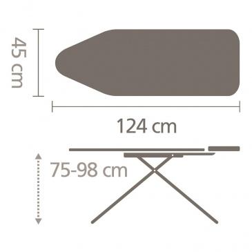 BRABANTIA - Deska do prasowania - podstawa na generator pary - rozmiar C - Cotton Flower