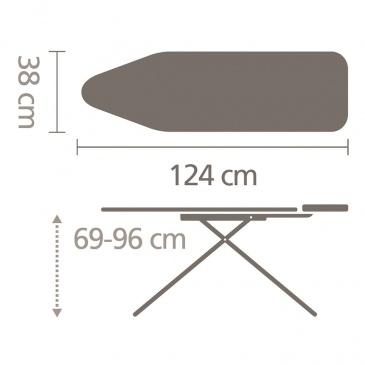 BRABANTIA - Deska do prasowania - rozmiar B - Ecru