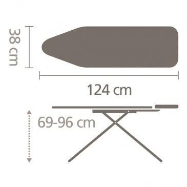 Deska do prasowania 124x38cm Brabantia Lavender rozm. B