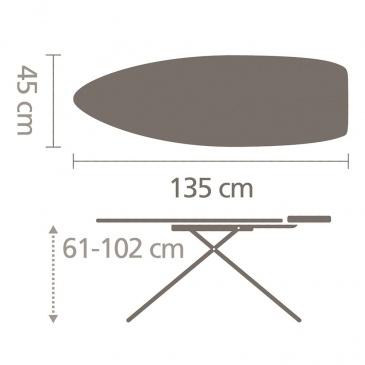 Deska do prasowania 135x45cm Brabantia Fading Lines rozm. D