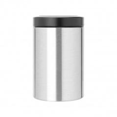 BRABANTIA - Pojemnik z okienkiem w pokrywie 1,4 l - stal matowa FPP / pokrywa czarna