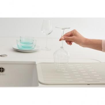 BRABANTIA - Sink Side - Silikonowa mata do suszenia naczyń - Jasnoszary