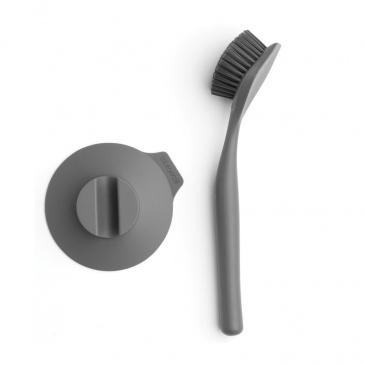 BRABANTIA - Sink Side - Szczotka do mycia naczyń z przyssawką - Ciemnoszary