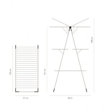 BRABANTIA - Suszarka na pranie 23 m - Metaliczny szary