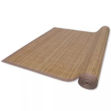Brązowy, prostokątny dywan bambusowy, 150 x 200 cm