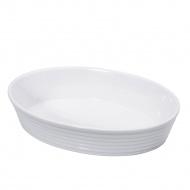 brytfanna porcelanowa, owalna, 26x18x6 cm