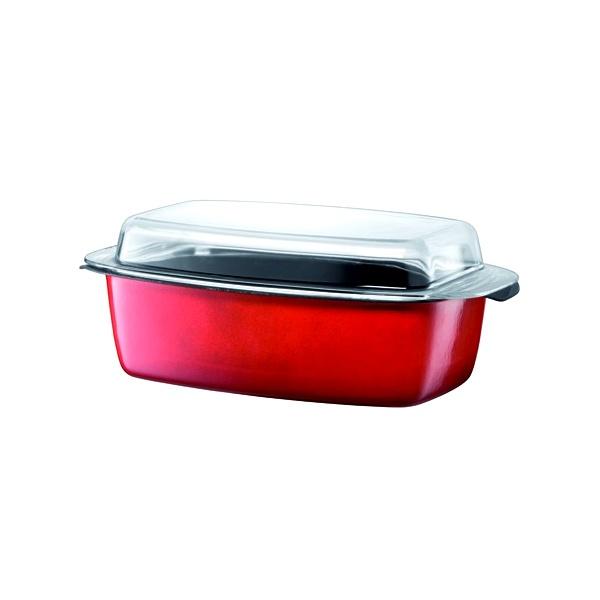 Brytfanna ze szklaną pokrywą 5,3 litra SILIT Passion Colours czerwona 21.3623.6351