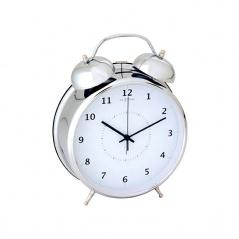Budzik 9 cm NEXTIME Wake up silver