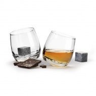 Bujające szklanki do whisky z kamieniami 200 ml Sagaform przeźroczyste