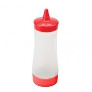 butelka do sosów i polew, 0,35 l, czerwona
