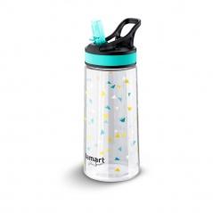 Butelka na wodę 500ml Lamart Straw niebiesko-przezroczysta