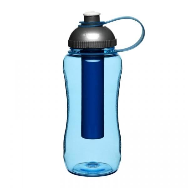 Butelka plastikowa z wkładem na lód 0,52 l Sagaform Picnic niebieska SF-5016294