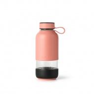 Butelka szklana na wodę TO GO różowa / Lekue
