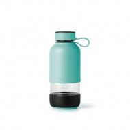Butelka szklana na wodę TO GO turkusowa / Lekue