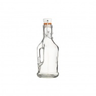 Butelka szklana z korkiem ceramicznym i rączką 210 ml Kitchen Craft Home Made przezroczysta