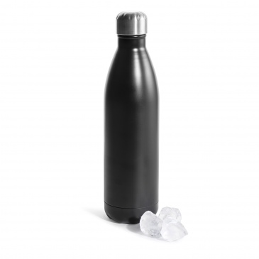 Butelka termiczna 0,75 l Sagaform Outdoor czarna stalowa
