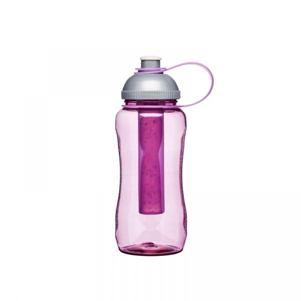 Butelka z wkładem na lód 0,52 l Sagaform Fresh różowa SF-5016512