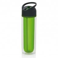 Butelka ze słomką 0,36l Xd design Duo zielona