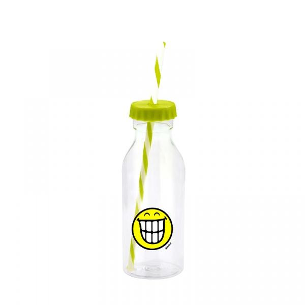 Butelka ze słomką 550 ml Zak! Design Smiley zielona 6727-0170