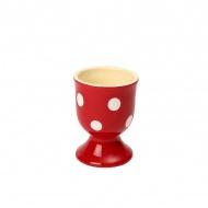 Ceramiczny kieliszek na jajko 5,5x7 cm Dexam czerwony