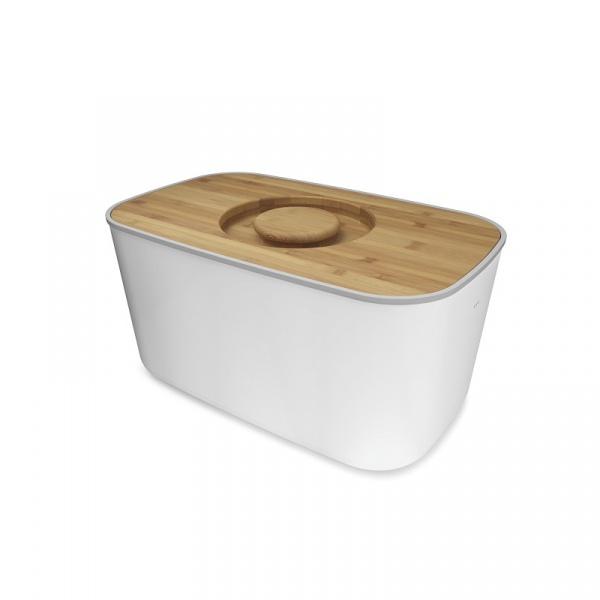 Chlebak z bambusową deską Joseph Joseph biały 80044