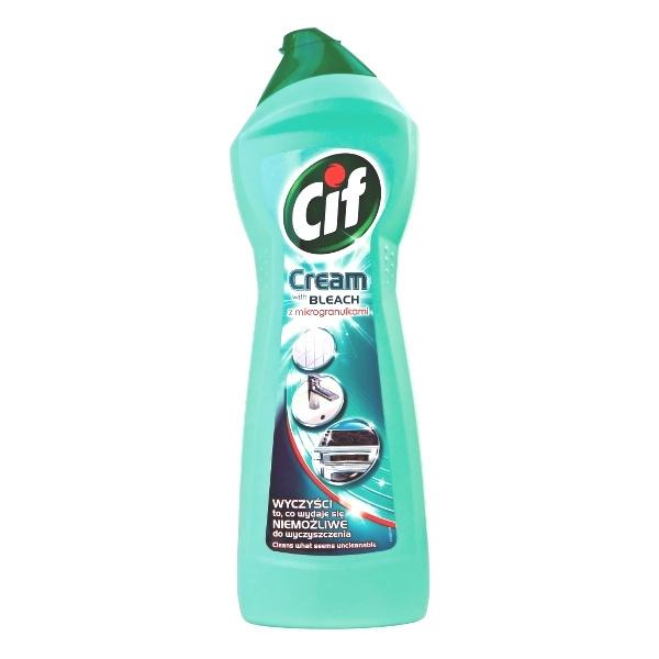 CIF 700 ml Cream with Bleach z mikrogranulkami Mleczko do czyszczenia powierzchni 8717163522158