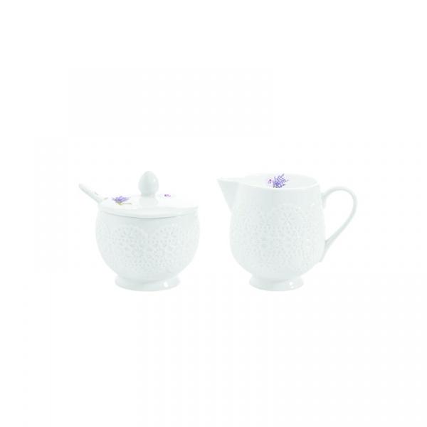 Cukiernica z łyżeczką + mlecznik do kawy Nuova R2S La Belle Maison 1023 LAV