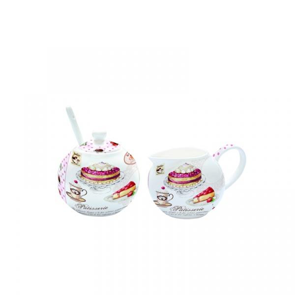 Cukiernica z łyżeczką + mlecznik do kawy Nuova R2S Romantic 317 PATI