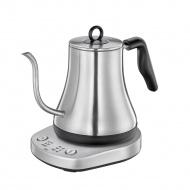 czajnik elektryczny do powolnego zalewania kawy, stal nierdzewna, śred. 16 x 19 cm, 0,8 l