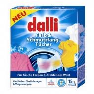 DALLI 15szt. Niemieckie Chusteczki do prania (15 prań)