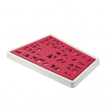 Deska do krojenia pieczywa Koziol Matrix malinowa