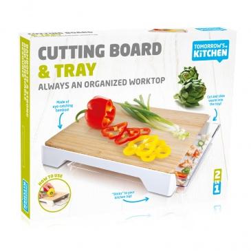 Deska do krojenia z szufladą Tommorow's Kitchen biała