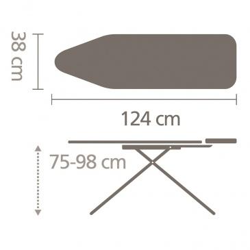 Deska do prasowania - podstawa na generator pary - rozmiar B - Cotton Flower