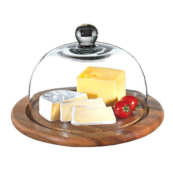 Deska do sera ze szklaną pokrywą 25 cm Zassenhaus akacja ZS-055863