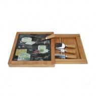Deska do serów z nożami 4szt Nuova R2S Woch-Wopa-Ictt