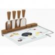 Deska do serów z nożami Fromages 31,5x20 cm Nuova R2S Kitchen Basics 810 KIBF
