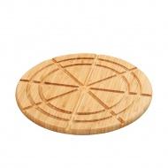 deska do serwowania i porcjowania tarty i pizzy, śred. 30 x 1,5 cm, bambus