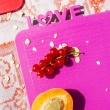 Deska śniadaniowa Koziol Happy Boards Love malinowa KZ-3249583