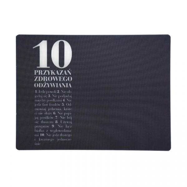 Deska szklana 10 przykazań 30 x 40 cm Healthy Plan By Ann - Anna Lewandowska DS10P